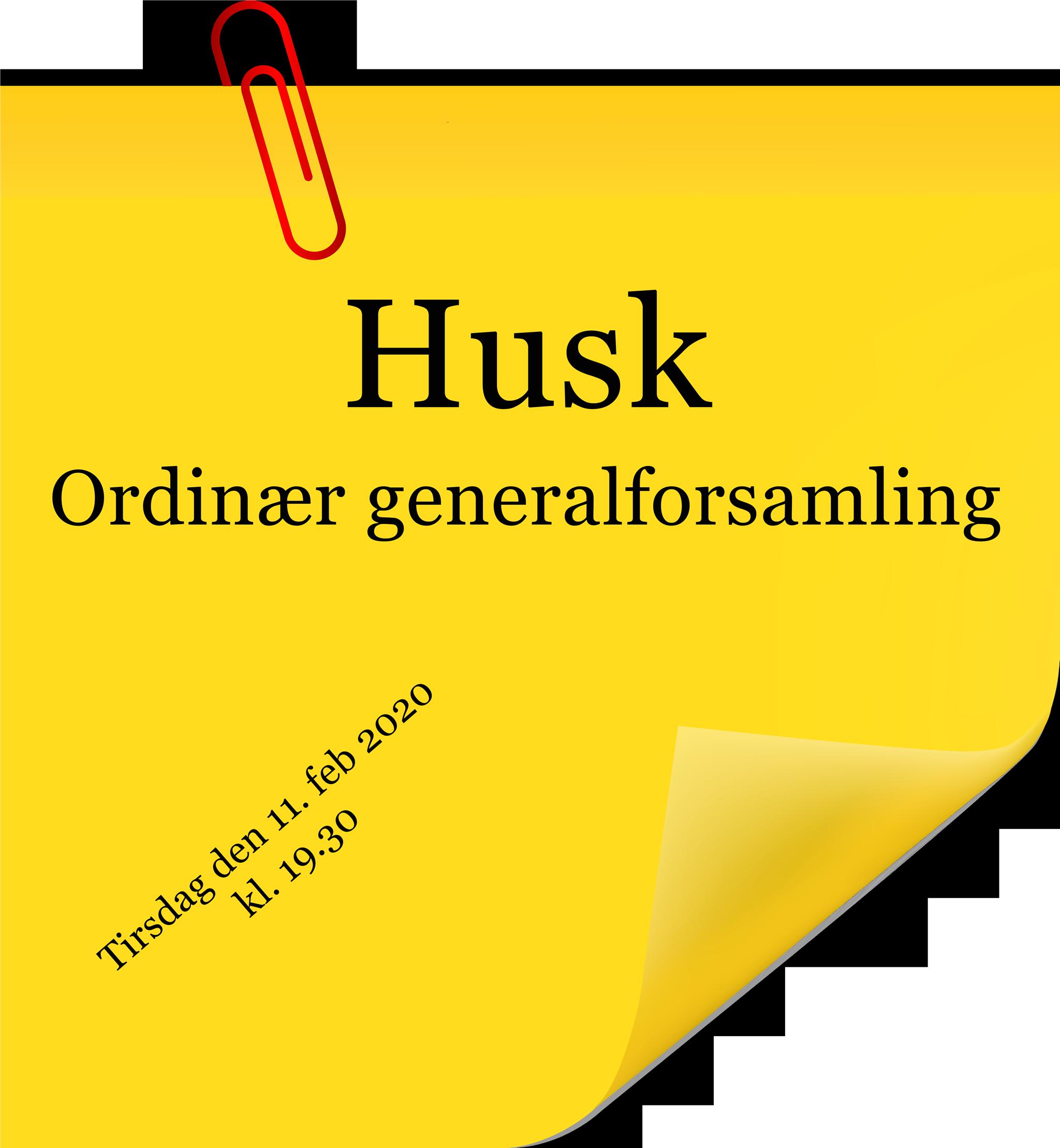 Ordinær generalforsamling feb. 2020